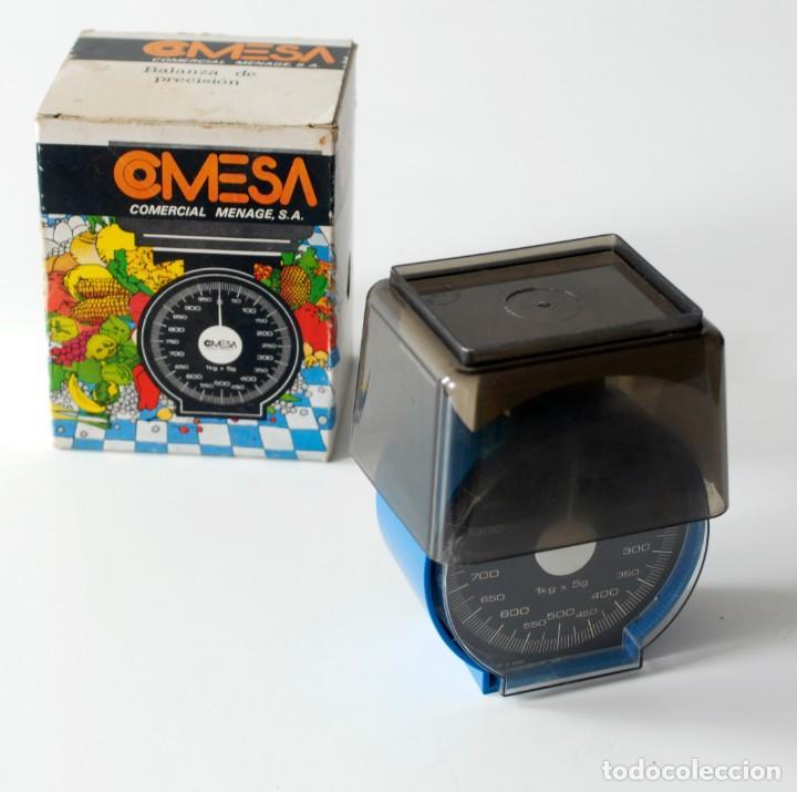 Vintage: Pequeña balanza vintage de cocina, marca COMESA, Made in Spain. Comercial Menage SA. Pesa hasta 1 kg - Foto 4 - 207043557