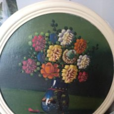 Vintage: CUADRO FLORES VINTAGE. OLEO SOBRE TABLEX. Lote 207132421