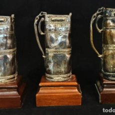 Vintage: 3 BOLSAS DE PALOS DE GOLF - VALENTI - BRONCE PLATEADO - TROFEOS GOLF.. Lote 207247953
