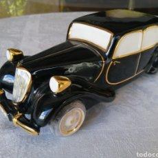 Vintage: ESPECTACULAR COCHE DE PORCELANA ENFILADO EN ORO DE LEY. GRAN PIEZA. PERFECTO ESTADO. MADE IN SPAIN.. Lote 207404067