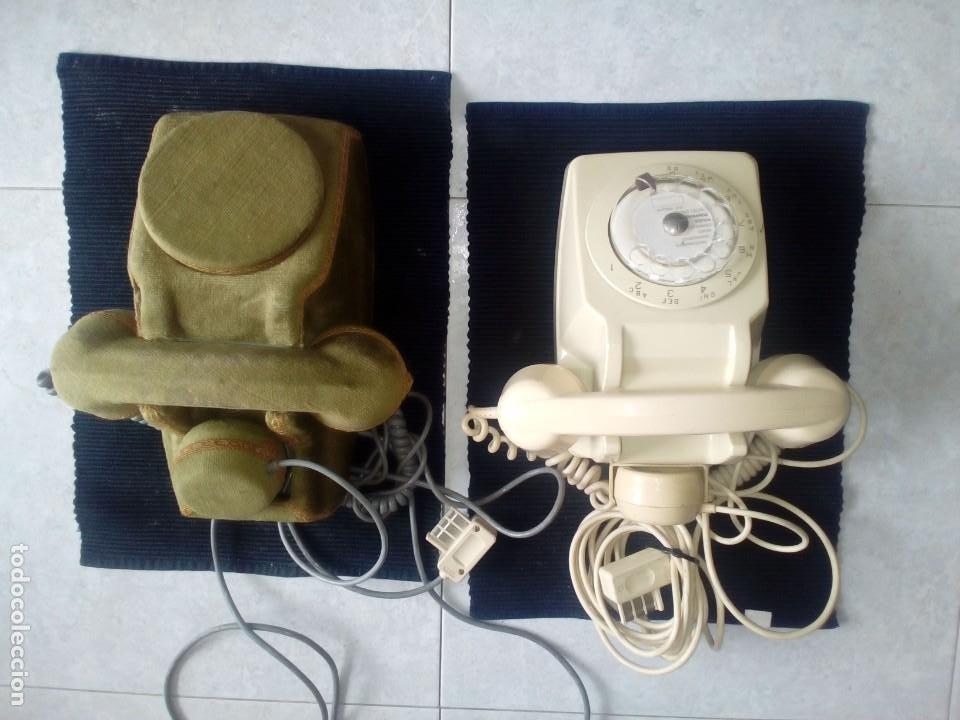 LOTE DE DOS TELEFONOS FRANCESES AÑOS SESENTA. UNO DE ELLOS CUSTOMIZADO. (Vintage - Varios)