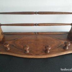 Vintage: ANTIGUO PERCHERO DE MADERA DE NOGAL.. Lote 208014060