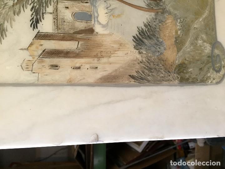 Vintage: tapa sobre mesa baja marmol pintado vista florencia firenze italia florentia italy barniz años 50 60 - Foto 4 - 208019728
