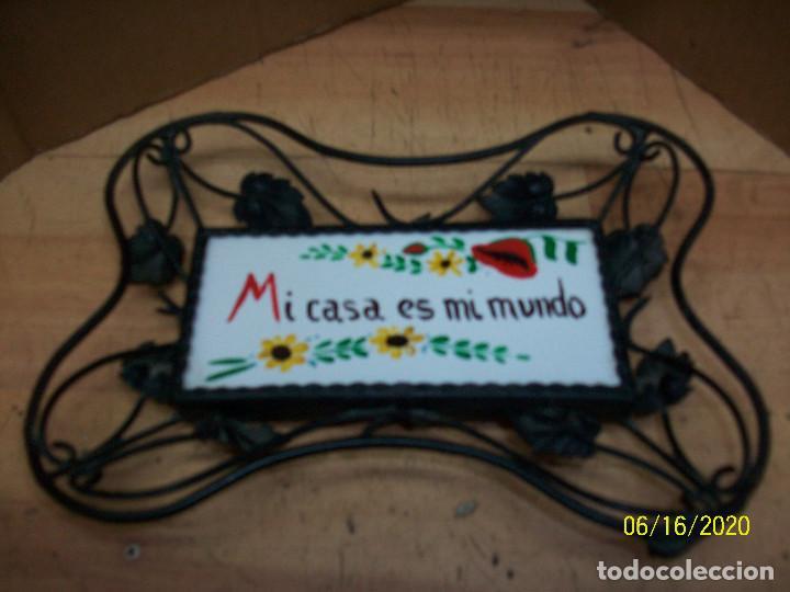 CARTEL DE MI CASA ES MI MUNDO (Vintage - Varios)