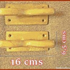 Vintage: DOS CORNAMUSAS PARA ATAR CABOS....MEDIDAS 16 X 6,5 CMS....PESO ....2,200 KGS. Lote 209183036