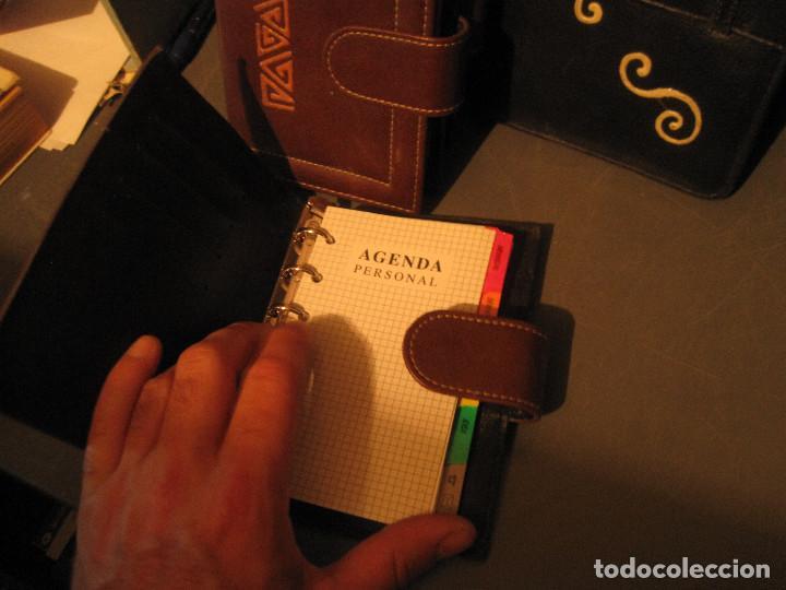 Vintage: Lote 16 piezas. Agendas/organizer universales y carteras de piel sintética - Foto 2 - 210012845