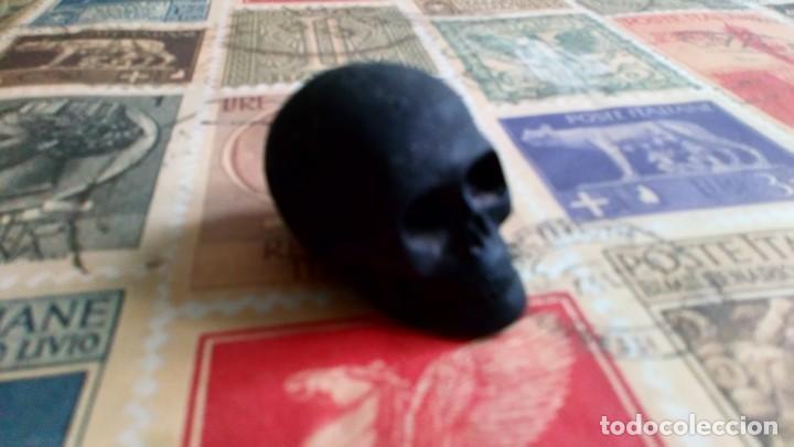 Vintage: calavera volcan teide artesania skull decoracion tallado a mano raro a la venta5x4 cm medida piedra - Foto 2 - 210205030