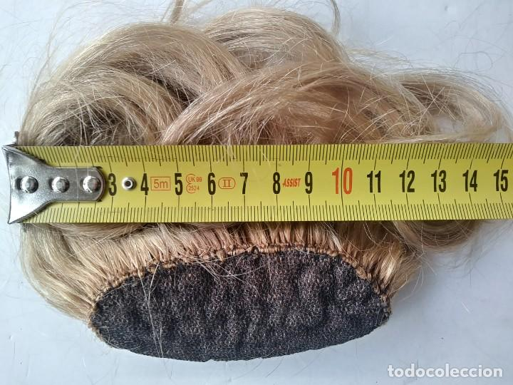 Vintage: Antiguo postizo rubio de pelo cabello natural - Foto 3 - 210208940