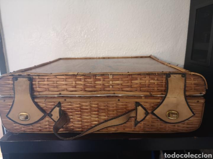 Vintage: Maleta picnic mimbre-madera - Foto 3 - 211453899