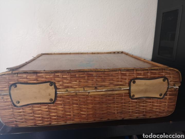Vintage: Maleta picnic mimbre-madera - Foto 4 - 211453899