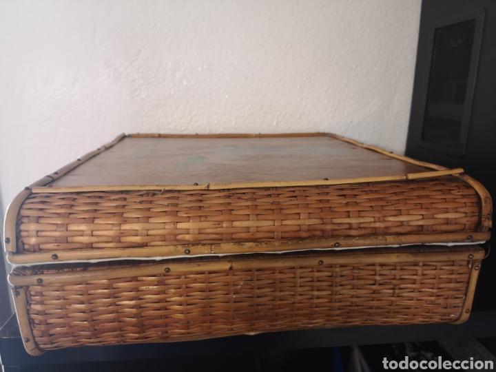 Vintage: Maleta picnic mimbre-madera - Foto 5 - 211453899