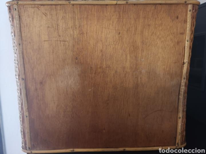 Vintage: Maleta picnic mimbre-madera - Foto 7 - 211453899