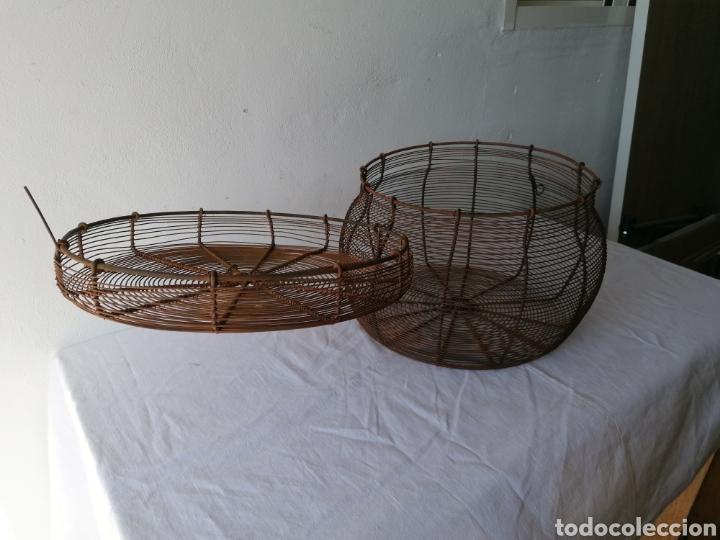 Vintage: Cesta de hierro con tapa mediana - Foto 4 - 211555571