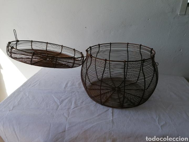 Vintage: Cesta de hierro con tapa mediana - Foto 5 - 211555571