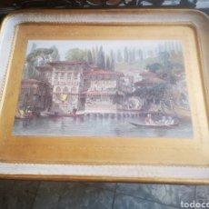 Vintage: ANTIGUA BANDEJA DE MADERA 42 X 33 CM. Lote 214013923