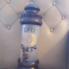 Vintage: BOTELLA TIPO BARRILETE /BARRIL DRY GIN. Lote 214050586