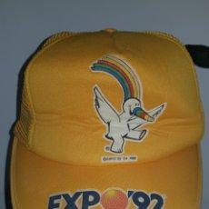 Vintage: GORRA EXPO 92. Lote 214054882
