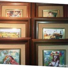 Vintage: 6 CUADROS ESMALTADOS. Lote 214666113