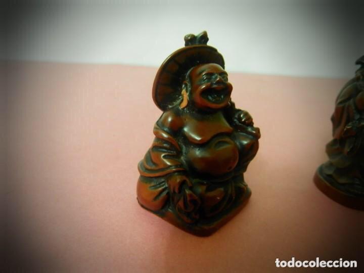Vintage: 6 Figuras de Budas en resina roja, todas diferentes . - Foto 8 - 214797991