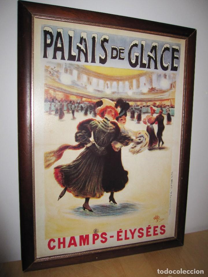 CUADRO ESTILO VINTAGE PALAIS DE GLACE CHAMPS ELYSEES. PARÍS (Vintage - Decoración - Varios)
