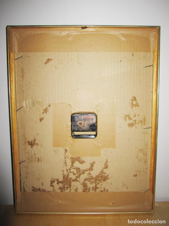 Vintage: Cuadro reloj vintage kitsch artesanal floral brillos dorado - Foto 7 - 214943950