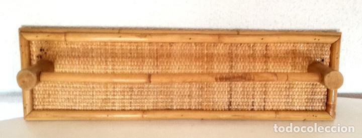 Vintage: Toallero de pared colgador perchero de caña bambú madera - Foto 4 - 215159251