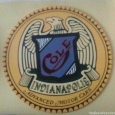 Vintage: CARTEL DE CHAPA AMERICANO COLE INDIANAPOLIS. Lote 215314827