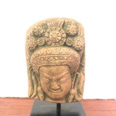 Vintage: PRECIOSO BUSTO PIEDRA ARTE PREHISPÁNICO PRECOLOMBINO AZTECA MAYA INCA. Lote 216965466