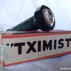 Vintage: LINTERNA AÑOS 40/50 DE BAQUELITA MARCA TXIMIST NUEVA CON CAJA MADE IN SPAIN OÑATE-OÑATI CEGASA. Lote 216981081
