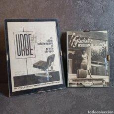 Vintage: PUBLICIDAD URBE EL SILLÓN UN DEFORMABLE * GLADIADOR EL MALETÍN QUE DISTINGUE. Lote 217370780