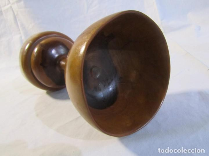 Vintage: Copa de madera torneada grande de 2 piezas - Foto 9 - 217479162