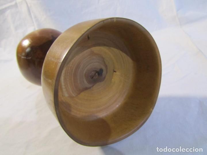 Vintage: Copa de madera torneada grande de 2 piezas - Foto 10 - 217479162