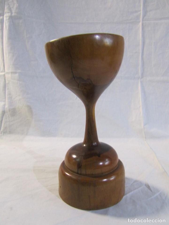 Vintage: Copa de madera torneada grande de 2 piezas - Foto 11 - 217479162