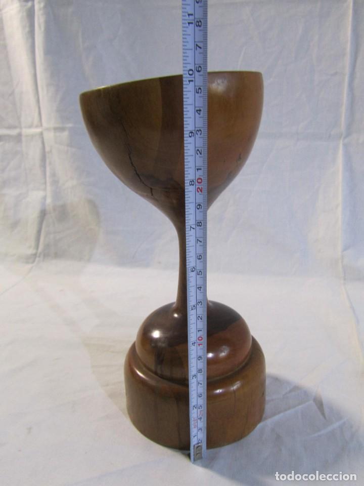 Vintage: Copa de madera torneada grande de 2 piezas - Foto 12 - 217479162