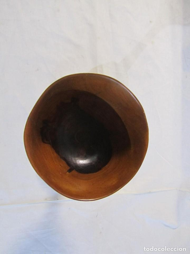 Vintage: Copa de madera torneada grande de 2 piezas - Foto 14 - 217479162