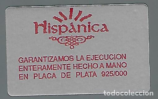 Vintage: MAGNIFICO CUADRO EN PLATA DE 1ª LEY HECHO A MANO DE SAN PABLO DE VALLADOLID SOBRE SOPORTE DE MADERA - Foto 4 - 217836707