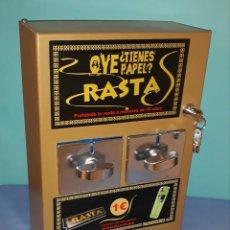 Vintage: MAQUINA VINTAGE EXPENDEDORA DE PAPEL RASTA ORIGINAL NUEVA A ESTRENAR MUY DIFICIL DE CONSEGUIR. Lote 217924550