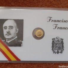 Vintage: TARJETA CARNET FRANCISCO FRANCO MONEDA DE 100 PESETAS PLASTIFICADO. Lote 218227762