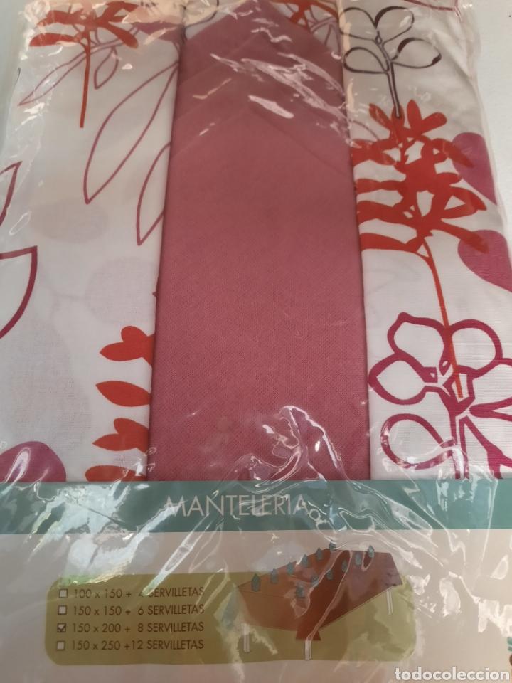 Vintage: Manteleria a estrenar. En algodon rectangular - Foto 2 - 218329630