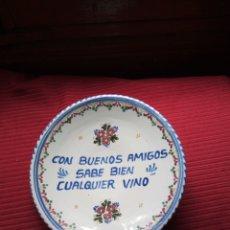 Vintage: ANTIGUO PLATO DE CERÁMICA CON FIRMA A. M.PUENTE. Lote 218408183