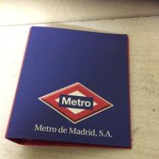 Vintage: CARPETA DE METRO DE MADRID TRENES FERROVIARIO. Lote 218816020