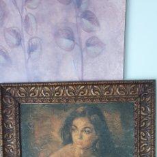 Vintage: ANTIGUO CUADRO VINTAGE MUJER. Lote 218875051