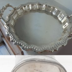 Vintage: BANDEJA SILVER PLATED ROYAL ASCOT MANCHESTER DESING. Lote 219028222