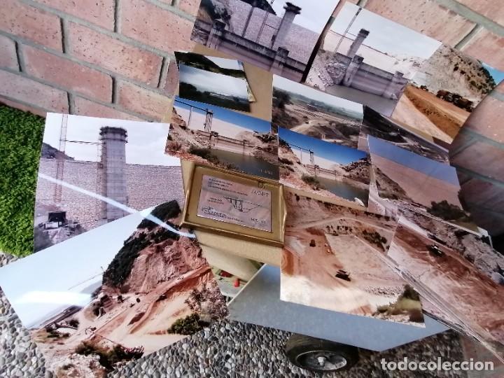 Vintage: lote de fotografias de la construccion presa de guadalcacin - Foto 3 - 220721012