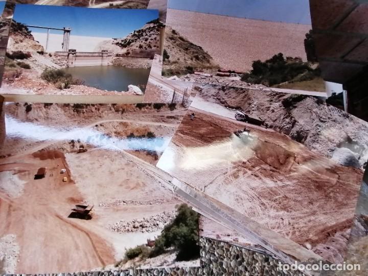 Vintage: lote de fotografias de la construccion presa de guadalcacin - Foto 4 - 220721012