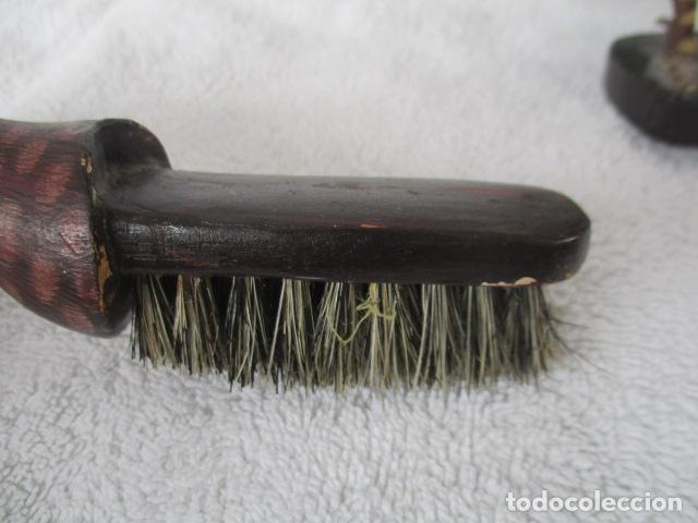 Vintage: Bonita pareja de patos de madera Chinos. 16 y 17 cm de altura. - Foto 17 - 220759508