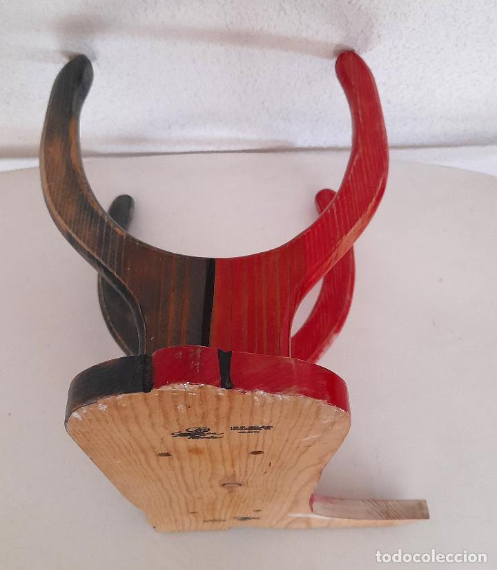 Vintage: Raro Expositor de pared soporte madera bota campera vaquera publicidad calzado country 45 cm alto - Foto 9 - 221094967