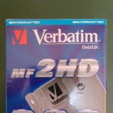 Vintage: VERBATIM MF 2HD CAJA DE 10 DISQUETES, NUEVOS, PRECINTADO. INFORMÁTICA VINTAGE. Lote 221114441