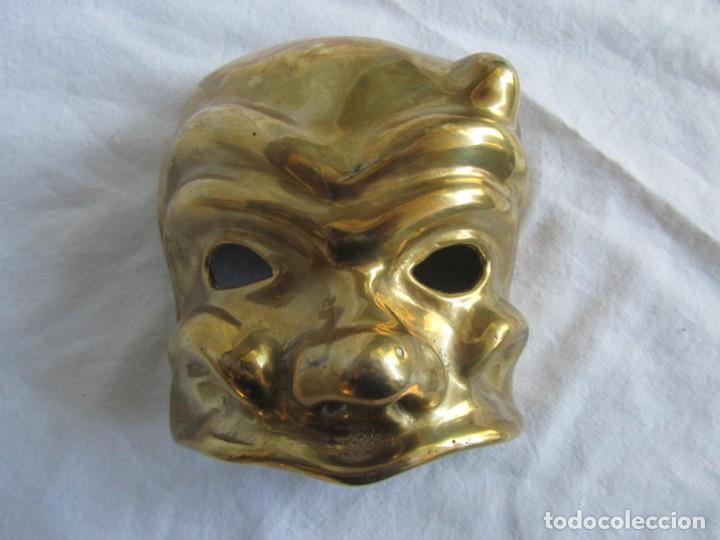 Vintage: Gran máscara de bronce macizo teatro - Foto 2 - 221391436