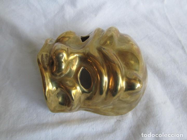 Vintage: Gran máscara de bronce macizo teatro - Foto 5 - 221391436